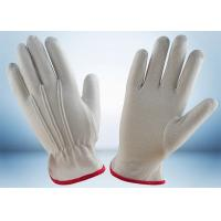 Quality Industrial Cotton Work Gloves Width 8.8cm - 10.6cm With One Elastic Line for sale