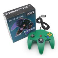 Quality Gamepad Joypad Green Nintendo 64 Controller Highly Sensitive Motion OEM Avilable for sale