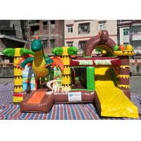Quality Dinosaur Park Inflatable Bounce Slide Combo Jumping Castle With Slide For Inflatable Games for sale