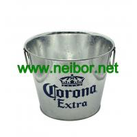 Quality Galvanized Steel Metal Corona Extra Beer bucket 5Quarter with 2 handles for sale