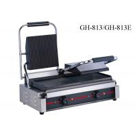 Quality Stainless Steel Contact Griller Single / Double Heads Sandwich Grill Machine for sale