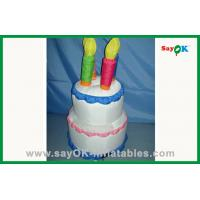 China Backyard Party Cute PVC Plastic Inflatable Birthday Cake For Decorations on sale