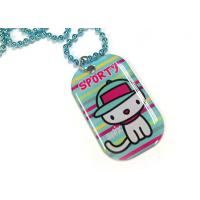 Quality Cartoon / Camouflage Patterns Personalized Metal Dog Tags with Offset Printed Logo for sale