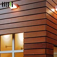 Quality Wood Wall Cladding Panels , Exterior Wooden Wall Tiles 5 Years Warranty for sale