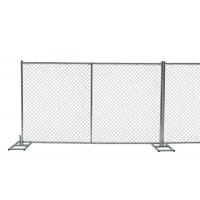 China temporary chain link fence 6 foot height  x 12 foot width frame pipes 1.375 inch pipes x 16 gague thick on sale