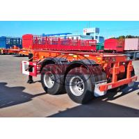 China 30 Tons Skeletal Container Trailer , 2 Axle 20 Foot Skeleton Semi Trailer on sale