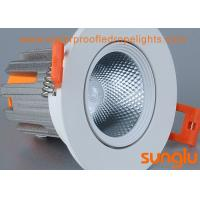 Quality Tiltable COB Anti Glare LED Downlights , 12 Watt Dimmable LED Ceiling Lights for sale