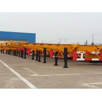 China 40ft 3 axle skeletal container semi trailer on sale