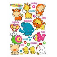 Quality Cute Animals Childrens Wall Glitter Stickers 8319  for sale