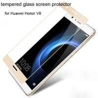 China Best Colorful tempered glass screen protector Huawei Honor V8 Honor V8 Clarity full screen on sale
