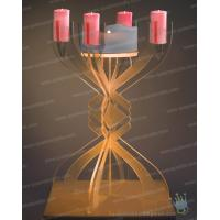 China CH (9)-1 Favor 5 arms Wholesale Crystal Pink Candle Holders on sale