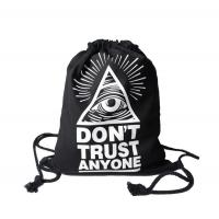 Quality Drawstring Woven Packaging Bags Backpack Heat Transfer Printing Patterned for sale
