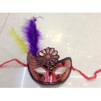 Best Halloween Venetian Masquerade Party Hollow Flower Decoration Mask With Feather wholesale