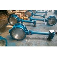 Quality Double Flanged Butterfly Valve Adjust Tightness With Hand Wheel Dn50 To Dn400 for sale