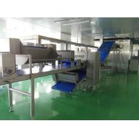 Quality Auto Freezing Croissant Production Line with 8 Nozzles Depositor For Filled Croissant for sale