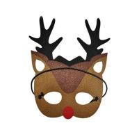 Quality Wholesale price laser cut handmade felt Christmas mask for sale