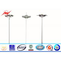 Best Q345 Steel HDG 40M 60 Lamps High Mast Tower Steel Square Light Poles 15 Years Warranty wholesale