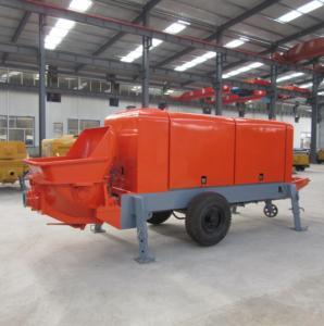 Quality Diesel 270m 50m3/H Electric Trailer Concrete Pumps for sale