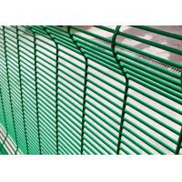 Quality PVC Coated 358 Security Mesh , Anti Climb Prison Mesh Fencing 8 Gauge for sale