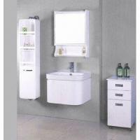 China Bathroom Cabinet with Sink and Mirror, Made of Bamboo, Available in Various Colors on sale
