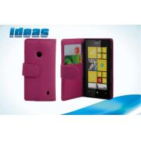 Quality PU Nokia Leather Phone Case Wallet Cover with Stand for Nokia 520 for sale
