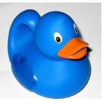 Quality Educational Bath Toys Baby Blue Rubber Ducks Floating 8.3cm Length 40 Gram for sale
