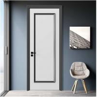 Quality Simple Design Wooden House Doors / Custom Wood Interior Doors 1100mm Max Width for sale