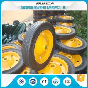 Lightweight Solid Rubber Wheels Steel Rim 150kg Loading Fits Wheelbarrow Wb3800