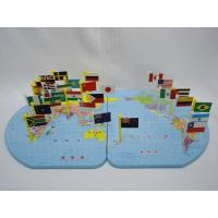 Best Treasure World Map Flag Geography Knowledge Linden Wood Educational Toys for Toddlers wholesale
