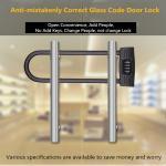 Quality U - Shaped Double Open Glass Door Lock , Four Digits Password Intelligent Door Lock for sale