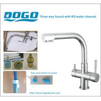 China Chrome three way kitchen faucet for home RO water on sale