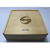 Quality Custom Decorative Wooden Box With 4 compartments , Pine Storage Box for sale