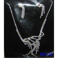 Buy cheap Custom Tin Alloy Fashion Stone Jewelry Crystal Necklace and Earring Set for Party OEM from wholesalers