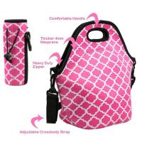 Quality Cheap wholesale OEM customize size fashion neoprene insulated lunch bag with water bottle sleeve.Size:30cm*30cm*16cm for sale