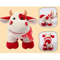 Quality Standing Pose RedBull Red Cow Milka Cow Plush Toys for sale