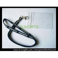 Best Plastic clear soft card holder with customized lanyard combo wholesale
