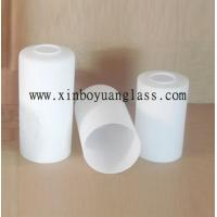 Quality Milk white Cylinder glass lamp cover for sale