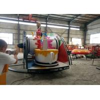 Quality Indoor / Outdoor Teacup Amusement Ride With Under Base And Transmission System for sale