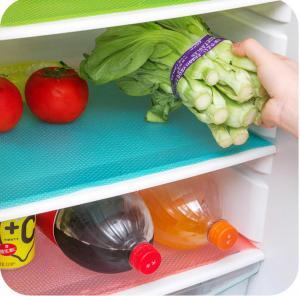 Quality Fruit Veggie Life Extender Can Be Cut Antibacterial Waterproof EVA Refrigerator Mat Shelf Liner Drawer Liners for sale