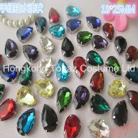 Quality Drop 18*25mm sew on acrylic stones in mounted for sale