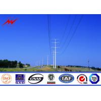 Best 10 kv - 550 kv Electricity Steel Utility Pole For Power Transmission Line wholesale
