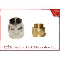 Quality Brass Male / Female Flexible Conduit Adaptor with Nickle Plated 20mm 25mm for sale