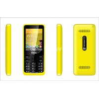 China Yellow Dual Sim Cards Dual Standby Phone 8G with Four frequency on sale