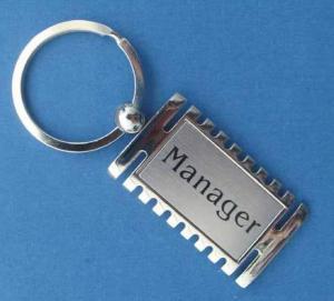 Quality Multi Shaped Promotional Metal Keyrings / 2D Or Laser Engraved Metal Keychains for sale