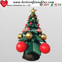 China Hot Sale inflatable Christmas Decoration tree with Christmas Ball Jingling Bell on sale