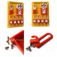 Quality Insulation Wall mounted 4-Lock Lockout Station 23cm(W)*33cm(H)*0.5cm(T)OSHA Standard for sale