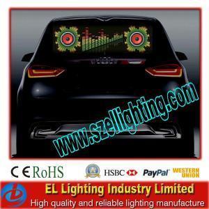 Best EL Flashing Window Car Sticker, Customized Car Stickers wholesale