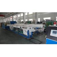 China Plastic Electrical Conduit Single Wall Corrugated PVC Pipe Extrusion Machine Single Screw on sale