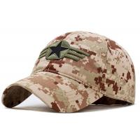 Buy cheap Military Style Embroidered Baseball Caps Breathable 4 Lines Sweatband For Summer from wholesalers