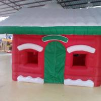 China Red Mini Oxford  Inflatable Christmas House for Christmas  Decoration on sale